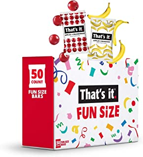Sponsored Ad - That's It. Fun Size Fruit Bars Variety Pack(50 Pieces, 10g Each) With Apples + Bananas, Apples + Cranberrie...
