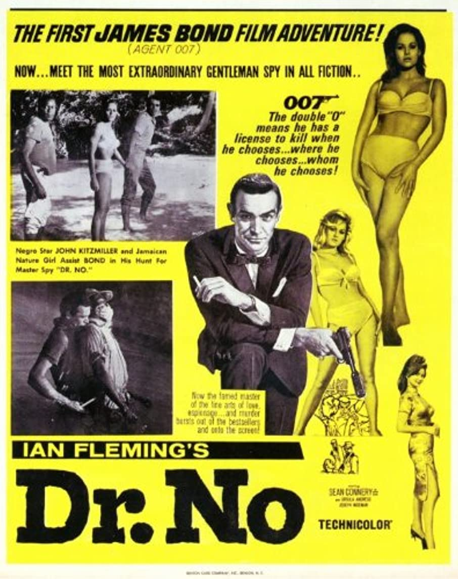 Dr. No Poster Movie K 11x14 Sean Connery Ursula Andress Joseph Wiseman Jack Lord