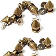 RUBYCA 12MM 50 Sets Metal Tree Spikes and Studs Metallic Screw-Back for DIY Leather-craft Bronze Color