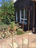 Rost Deko Rankstab Herz 170cm Gartendeko Stab Stecker Edelrost Beetstecker Landhaus Vintage verrostet