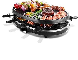 HAZYJT Appareil A Raclette 8 Personne, Multifonctionnel Raclette Gril avec Antiadhésive Plaque De Cuisson 1500W Gril Élect...