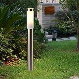 Acero inoxidable poste 80 cm Alto IP44 salpicaduras de agua exterior lámpara de proyección Patio Jardín