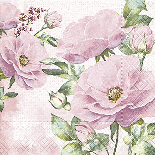 20 Servietten Rosengarten/Rose / Blumen 33x33cm