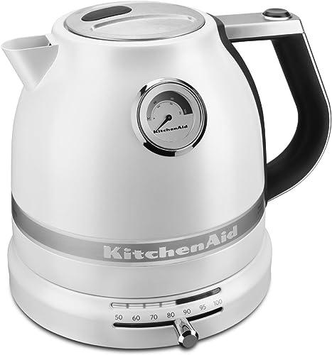 popular KitchenAid outlet sale KEK1522FP Pro Line sale Frosted Pearl White 1.5 Liter Electric Kettle online sale