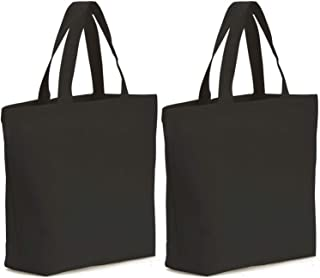 Axe Sickle 2PCS Canvas Tote Bag Bottom Gusset 16 X 16 X 4.6 inch Heavy 12oz Tote Shopping Bag, Washable Grocery Tote Bag, Craft Canvas Bag with Handles, Black.