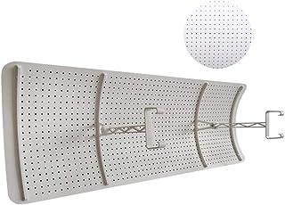 Deflector De Viento del Aire Acondicionado Central, Deflector De Parabrisas Anti Direccionamiento Directo Deflector para El Dormitorio/Oficina, ABS, Blanco (Size : 116x23cm)