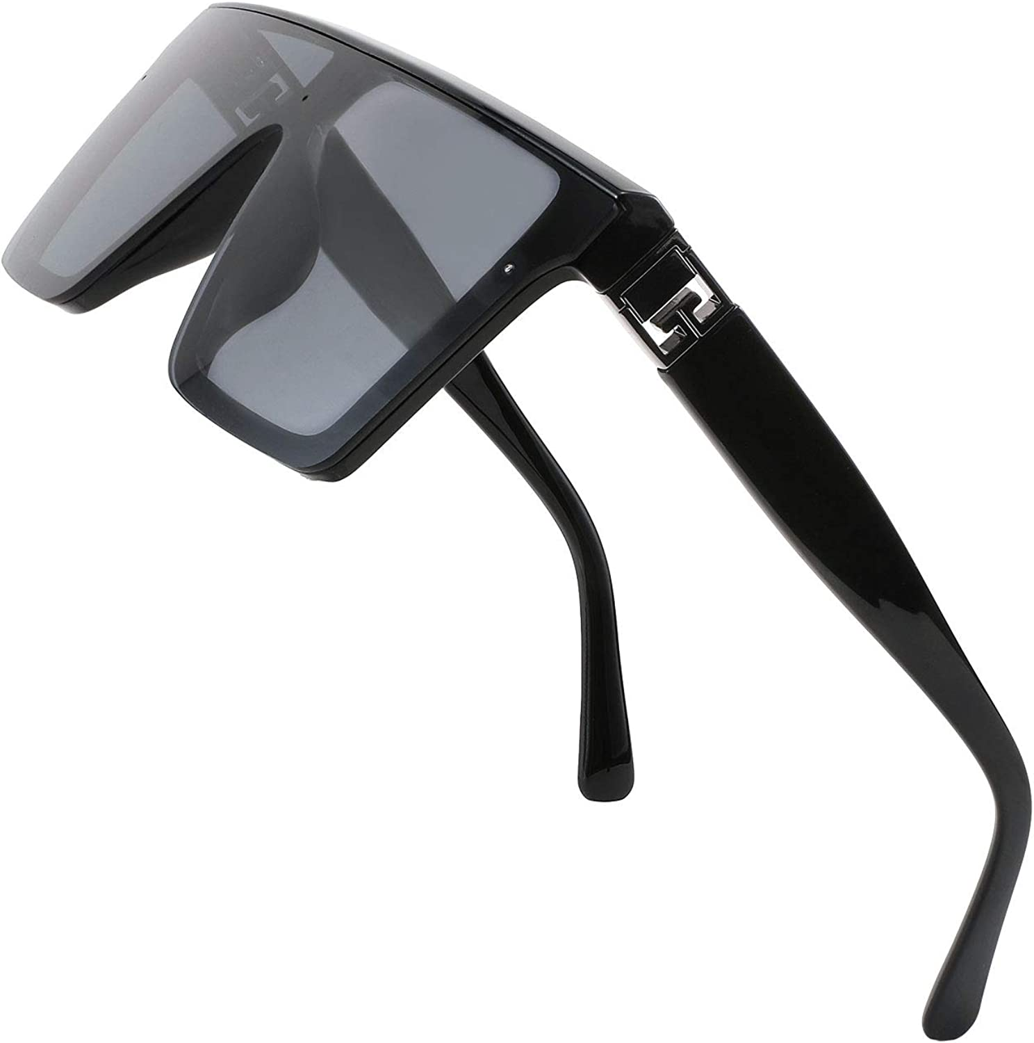 FEISEDY Oversized Flat Top trend rank Sunglasses Shades Aviator Square Charlotte Mall Thic