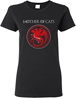 Ladies Mother of Cats TV Funny Parody DT T-Shirt Tee