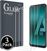 Ferilinso Cristal Templado para Samsung Galaxy A50, A50S, A30S, A20S, M30S, [3 Pack] Protector de Pantalla Screen Protector con garantía de reemplazo de
