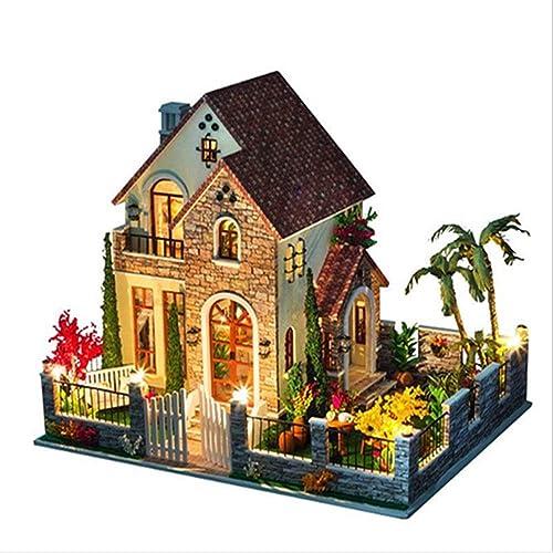 QIQI Dreidimensionales Puzzle, DIY-Villa Größe Villa Liebe Wohnung Hand Zusammengebaute Geb e Modell Spielzeug, Jungen Und mädchen Geschenke Zu Senden
