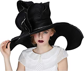 Women Church Hat Derby Big Wide Brim Wedding Hat Cocktail Tea Party Cap