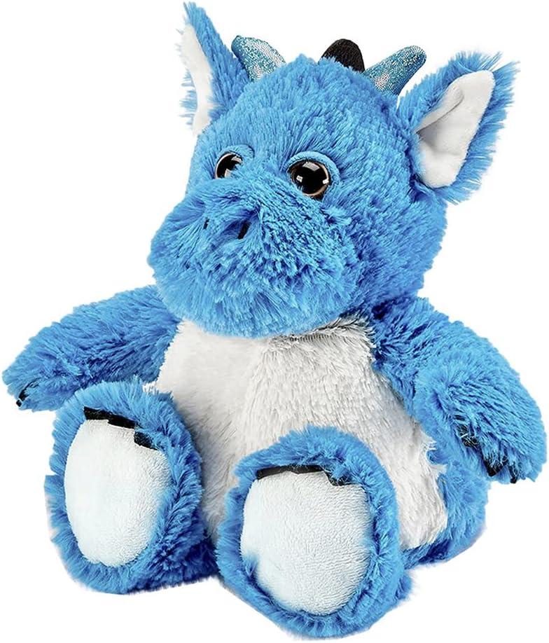 warmies Peluche que calienta para microondas, suave y suave con aroma a lavanda, azul dragón