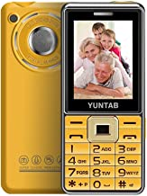 YUNTAB Easy to Use 2G Unlocked Cell Phone for Seniors, Kids and Hearing Difficulty Person, Big Button Big Fonts Big Volume, 2.4 inch Anti-Fall(Gold)