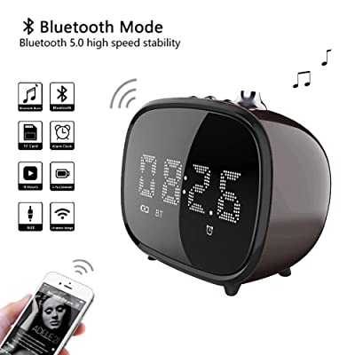 BETNEW Alarm Clock Wireless Bluetooth Speaker, ...