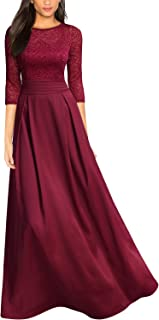 Women's Retro Floral Lace Halter Ruched Wedding Maxi Dress