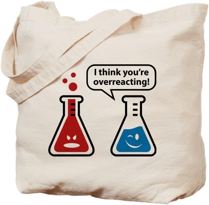 CafePress I Think You're Overreacting! Tote Bag Natural Canvas Tote Bag, Reusable Shopping Bag