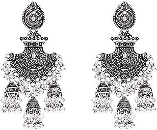 Jhumka Tassel Drop Earrings Bridal For Women Ethnic Afghan Gold Oorbellen Vintage Boho Tribal Egypt Nepal Gypsy Jewelry