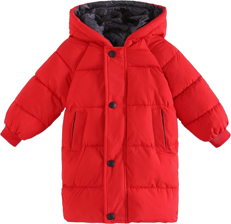 Boys Girls Winter Jackets Las Vegas Mall Las Vegas Mall Long Hooded Coats Warm Cotton Outwear