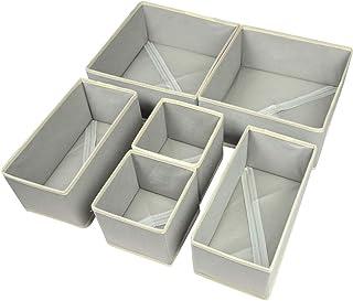 Umikk Foldable Closet Underwear Organizer, Drawer Divider Basket Bins, Simple Drawer Storage Box for Clothes, Bras, Socks...