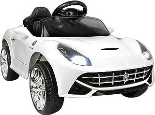 RIGO Kids Ride On Car Ferrari Inspired Toy Car Remote Control 12V Battery-White