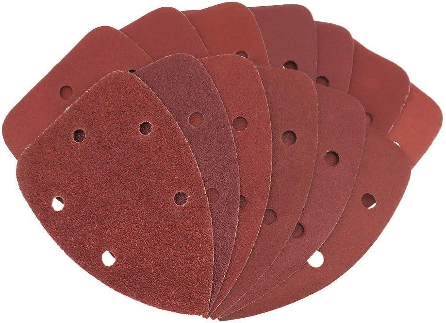 LOOIUEX sandpaper 100pcs Self-adhesive Max 72% OFF Sandpaper Triangle Sander outlet