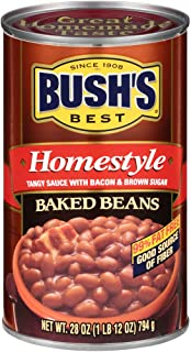 BUSH'S BEST Homestyle Baked Beans, 28 Ounce Can (Pack of 12)