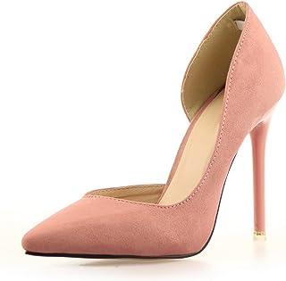 c1b19ec1b44722 OALEEN Escarpins Femme Sexy Bout Pointu Office Aspect Daim Chaussures Talon  Haut Aiguille