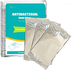 180 pcs Individually Wrapped - Hand Sanitizer Wipes use for Home Office School Car