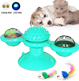 Windmill Ball for Cat Dog Chew Toy Bite Ball for Indoor Dogs Cats Interactive Toy for Pet Silicone Massager Hair Brush for Kitten Puppy Training Toy for Pet Funny Teasing Toy Dogs Cats Scratch Tickle