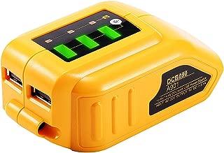 12V/20V Max 2 Port USB Power Source Compatible with Dewalt DCB090 Converters Dewalt USB charger Adapter for Lithium Battery