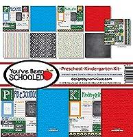"Reminisce Collection Kit 12""X12""-You've Been Schooled, Preschool/Kinder"