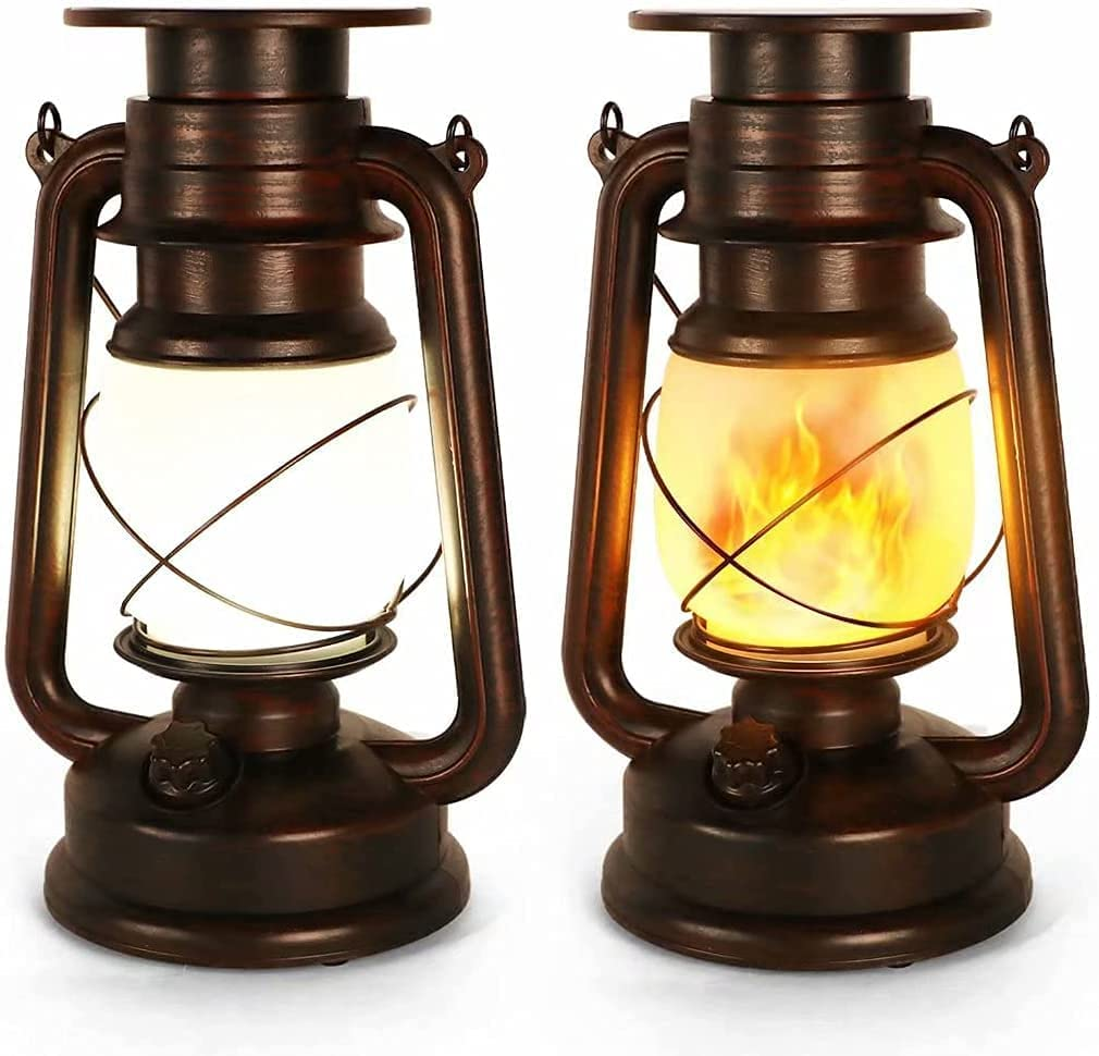 Sale price Upgraded Led Vintage Solar Lantern Flame Flicker Low price Outd Realistic