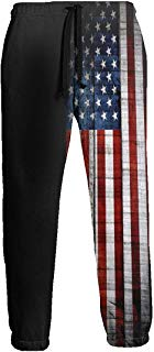 NTQFY Dark American Flag Jogger Pants Quick Dry Sweatpants with Elastic Waist Casual Pants for Men
