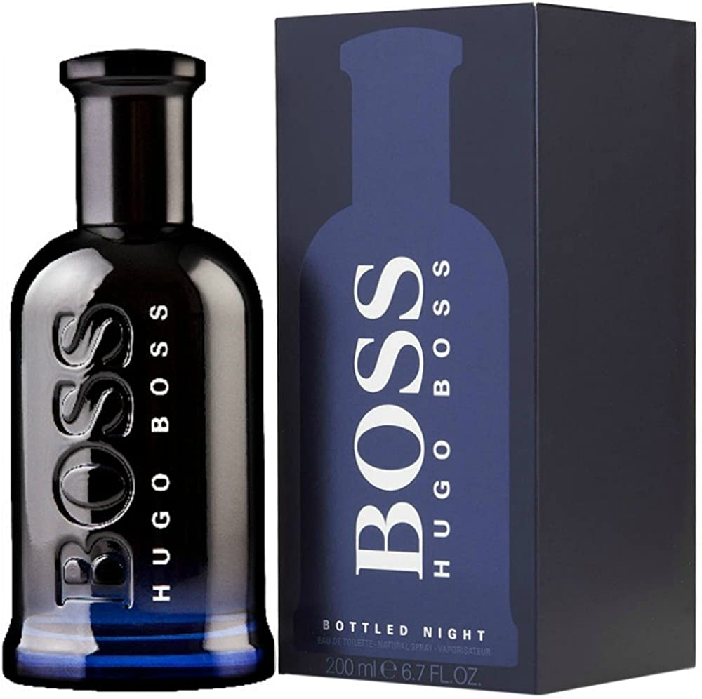 Hugo boss, boss bottled night, profumo per uomo,eau de toilette,200 ml PU2-75040