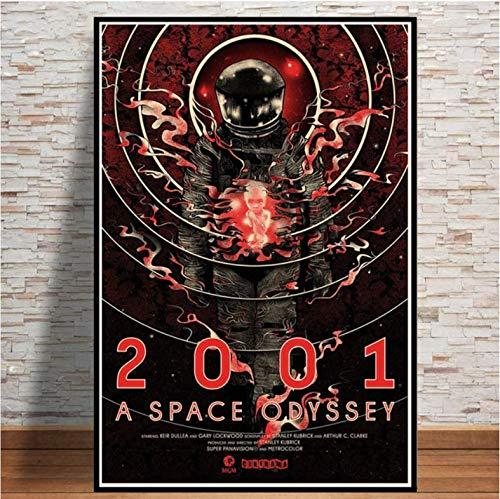 tgbhujk A Space Odyssey 2001 Film Pop Poster Wandkunst Bild Poster und Drucke Leinwand Gemälde für Room Home 50 * 75 cm Ohne Rahmen
