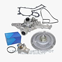 Water Pump Fan Clutch Thermostat Kit for Mercedes-Benz ML320 ML350 163 Premium 1122001501/1122000222/1122030275 (3pcs) New