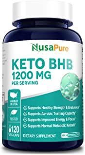 Keto Diet Pills 1200 Mg 120 Veggie Caps - Energy with Ketosis - Boost Energy & Focus, Manage Cravings, Support Metabolism - Keto BHB Supplement for Women and Men