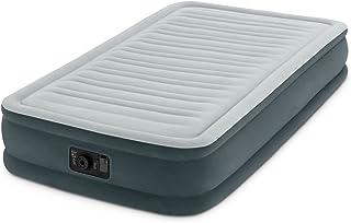 Intex, Colchón Inflable Comfort Plush Dura-Beam de elevación Media con Bomba eléctrica integrada, Altura de la Cama 33cm, Twin