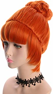 orange curly hair wig