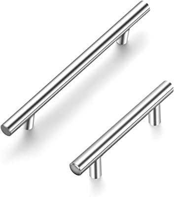 Ravinte 2 Pack 7.38 inch Cabinet Pulls Brushed Nickel Stainless Steel Kitchen Cupboard Handles Cabinet Handles 5 inch Hole Center