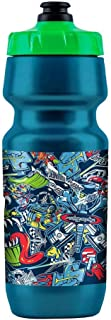 Troy Lee Designs Motocross Downhill All-Mountain BMX Bike Big-Mouth Water Bottle History of TLD Wrapped Graphics (Blue/Green, 21 Ounce)