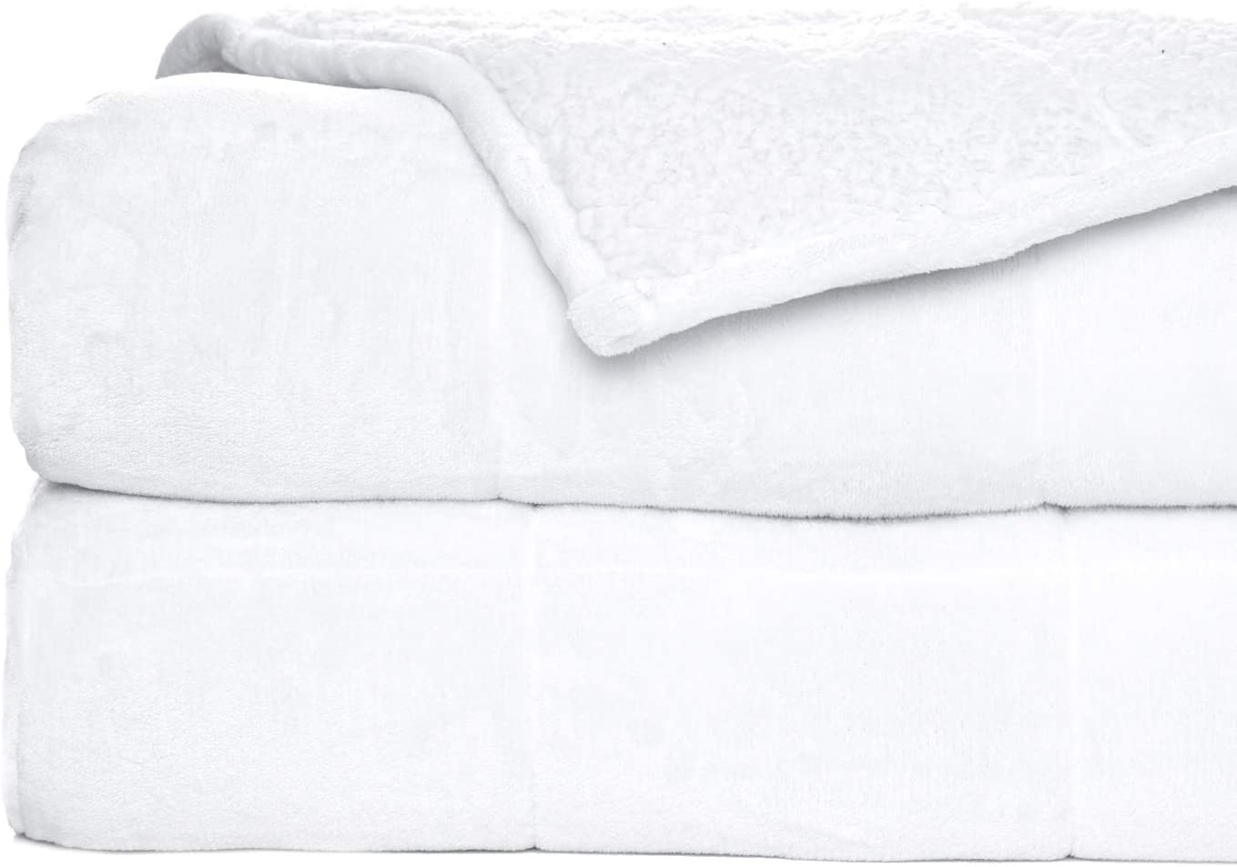 Rostyle Weighted Blanket Sherpa Fleece 2021 Fluff Adults Blankets for Sale
