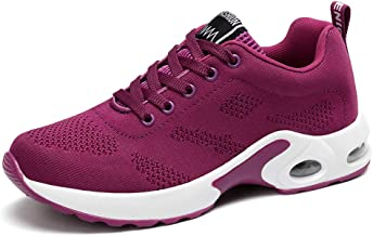 JLHY Women's Running Shoes Breathable Air Cushion Sneakers Athletic Gym Sports Walking Shoes