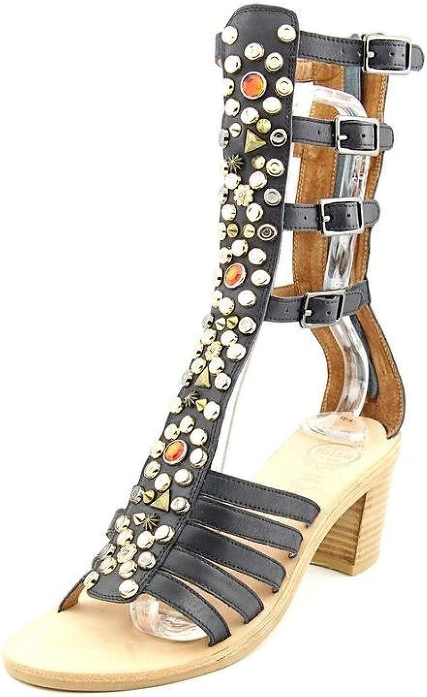 Jeffrey Campbell Klamath Women Open Toe Leather Gladiator Sandal