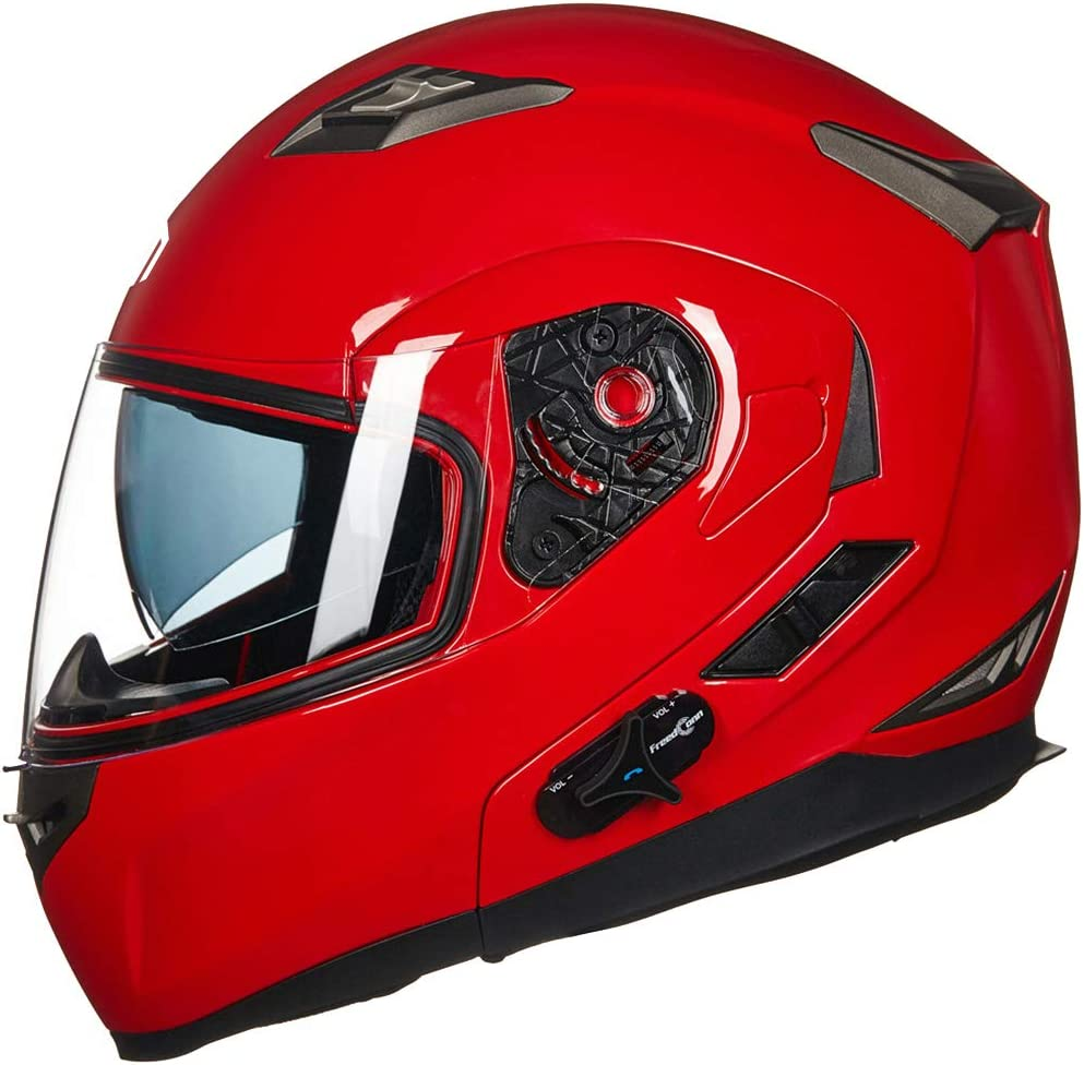 ILM Bluetooth Integrated Modular Flip up Full Face Motorcycle Helmet