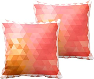 TheYaYaCafe® 20X20 inches Set of 2 Cushion Covers Remarkably Abstract Printed Sofa Throw Pillows Multicolor