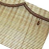 Cortinas para la cabeza en forma de onda, persianas enrollables de bambú que se pueden subir y bajar cortinas de partición cortinas para puertas cortinas, sombrillas y cortinas de ventilación, estil