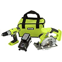 Ryobi 18V One Lithium-Ion Starter Kit Combo