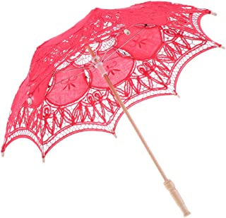 joyMerit Ombrelle Mariage Parasol Parapluie en Dentelle Décoration de Mariage Mariée