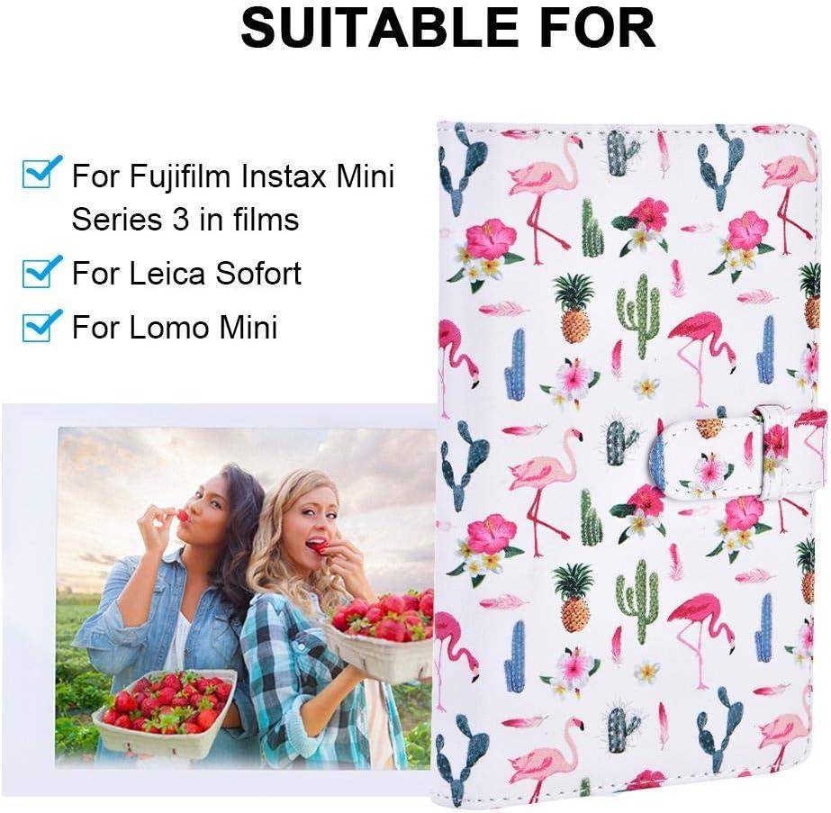 Photo Album Pink 96 Pockets 3 Photo Album for Fujifilm Instax Leica Sofort Lomo Mini